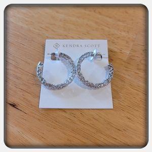 NWT Kendra Scott Silver Maggie Hoop Earrings